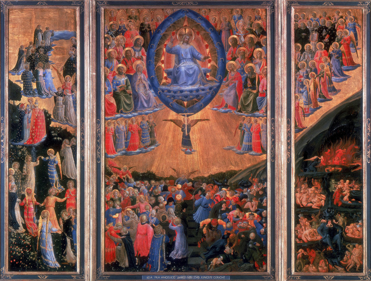 The Last Judgment,' showing heaven on the left and hell on the right, illustrates Christianity's unique promise of eternal salvation, something no pagan religions offered. Painted by Fra Angelico (1400-1455). (Credit: Universal History Archive/Getty Images)