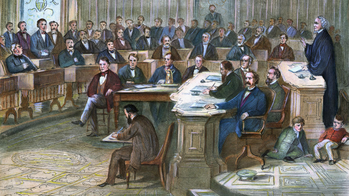 The 1868 impeachment trial of Andrew Johnson