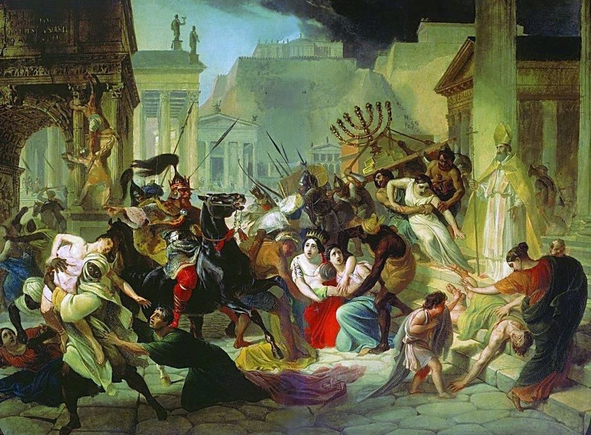 6 infamous sacks of rome - history