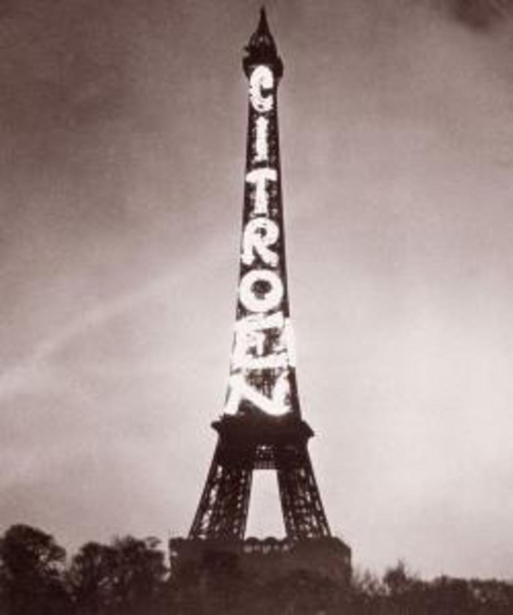 Citroen advertisement on the Eiffel Tower