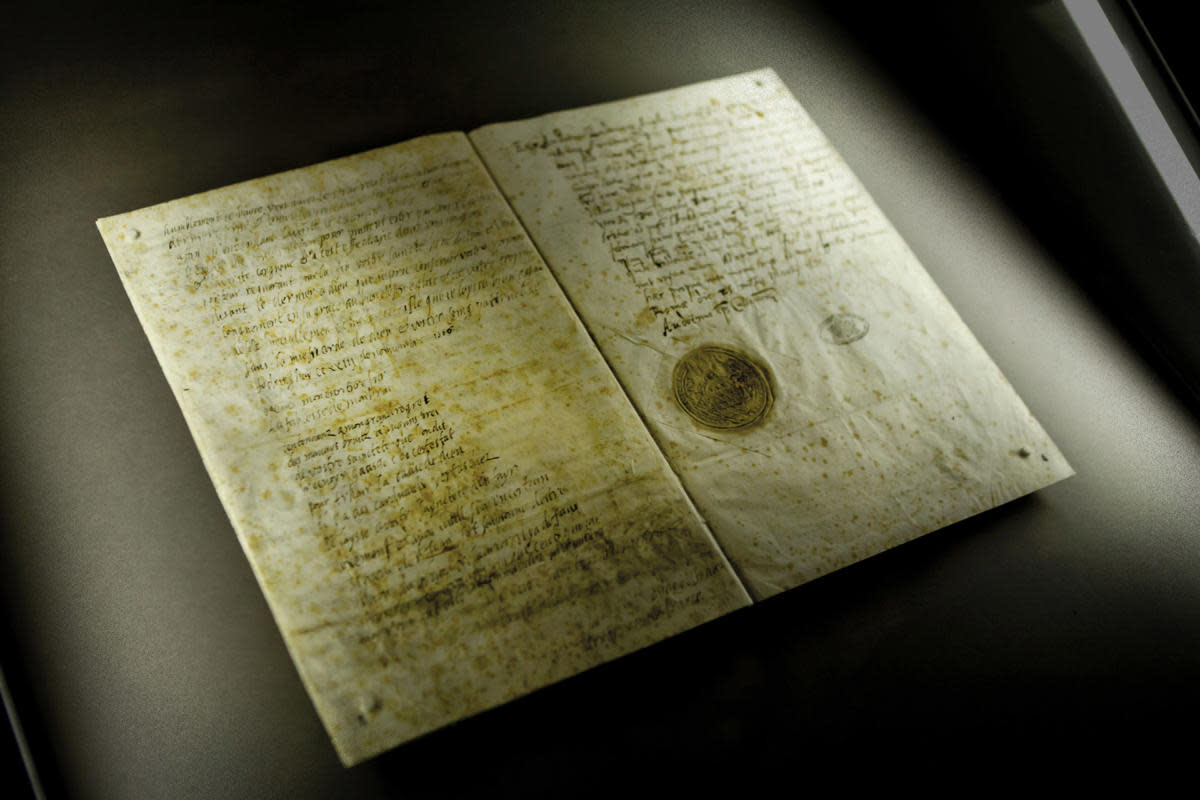 Last letter from Mary Queen of Scots to Pope Sixtus V