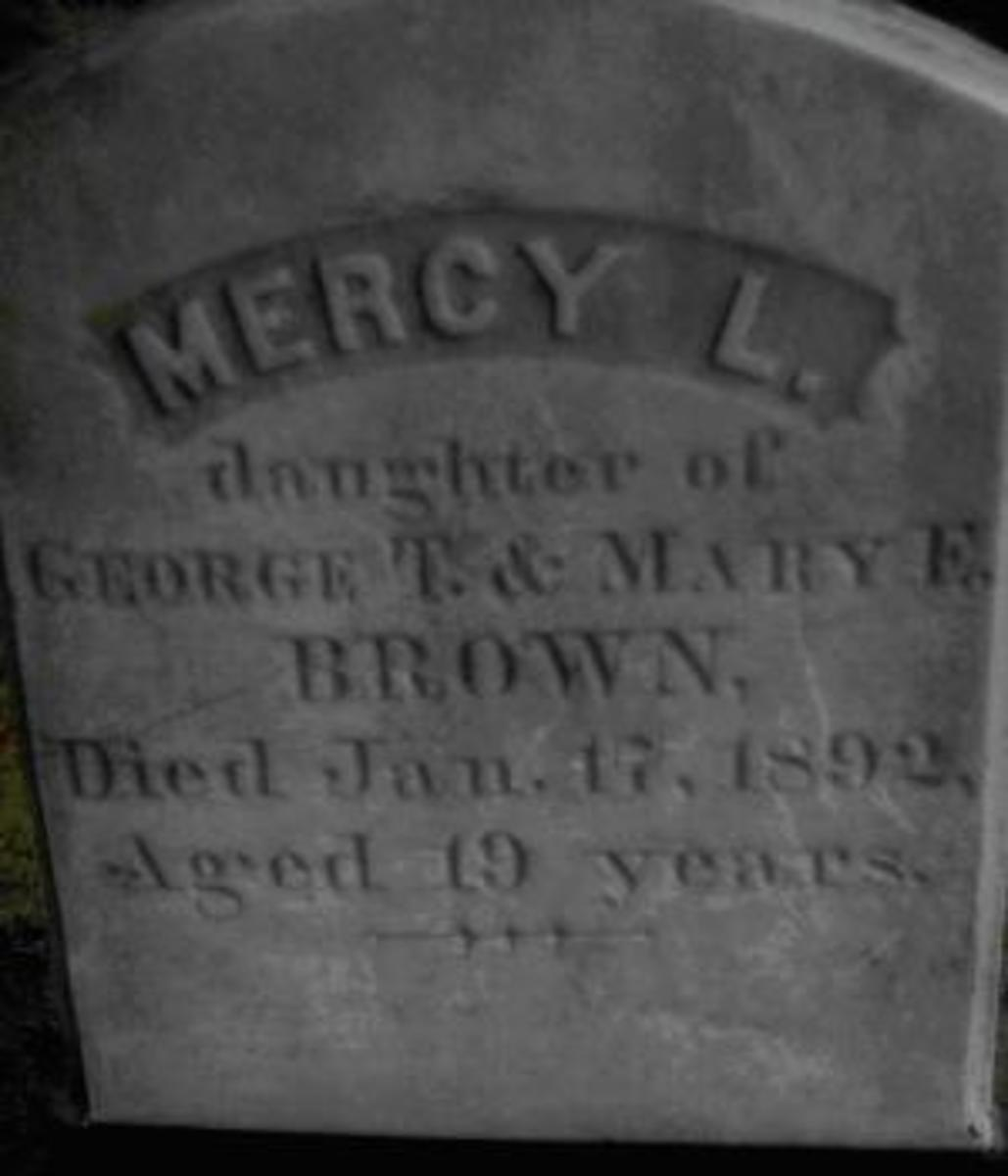 Mercy Brown's gravestone