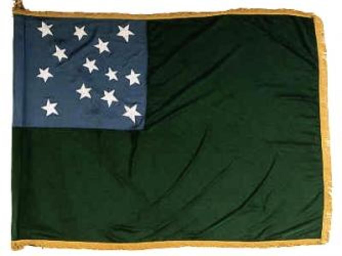 Flag of the Green Mountain Boys and the Vermont Republic. (Credit: Amber Kincaid)