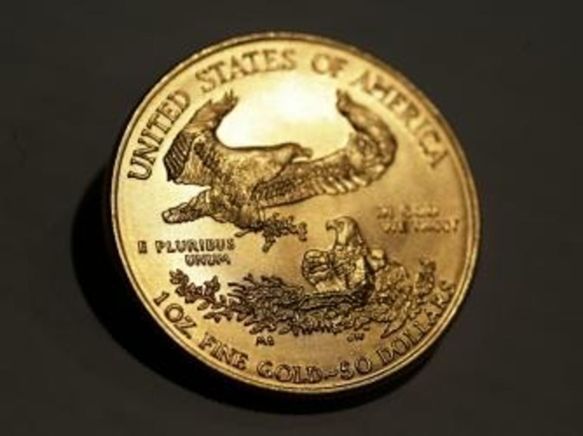 American Eagle gold coin. (Credit: Ulrich Baumgarten/Getty Images)