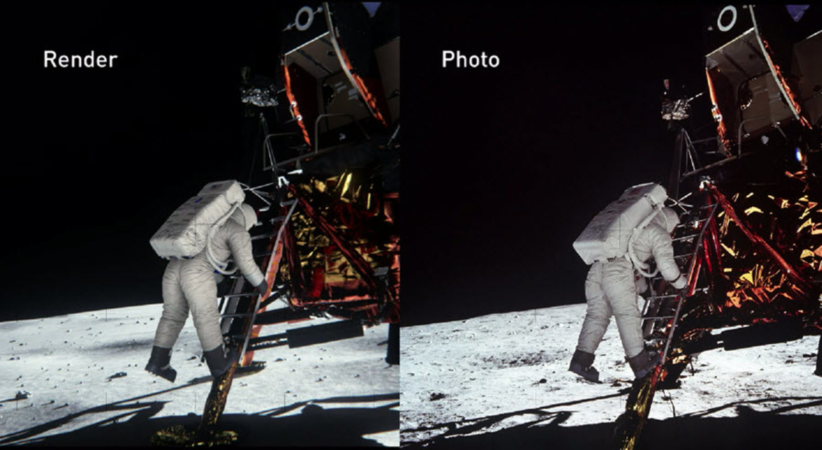 Lighting Simulation Offers More Proof of Moon Landing - HISTORY