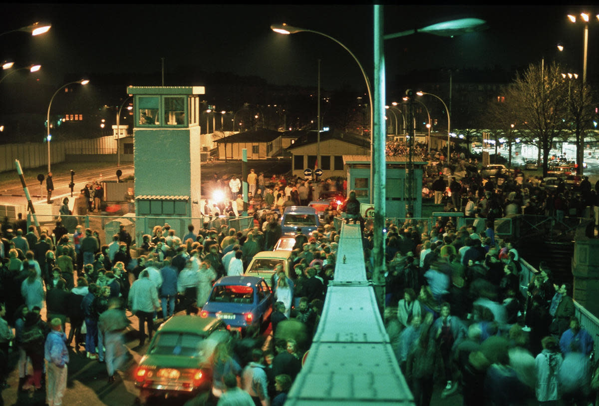 Bornholm Bridge on the night of November 9, 1989.