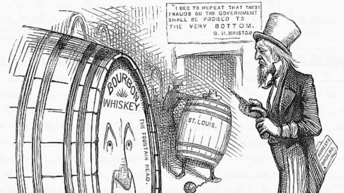 Whiskey Ring cartoon by Thomas Nast. (Credit: Public domain)