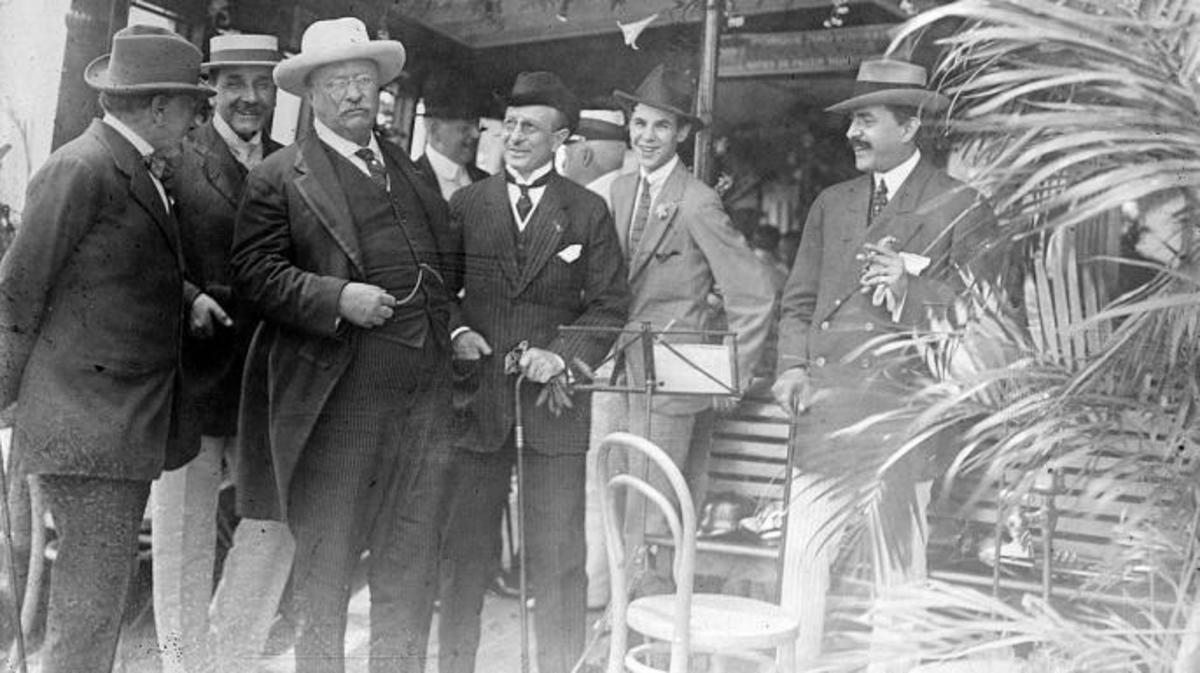 Theodore Roosevelt in Rio de Janeiro, Brazil, shortly before the Roosevelt-Rondon expedition began. (