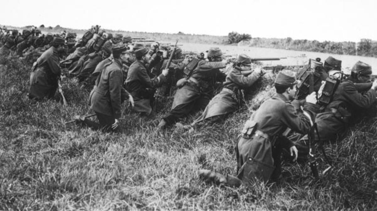 French troops at the First Battle of the Marne