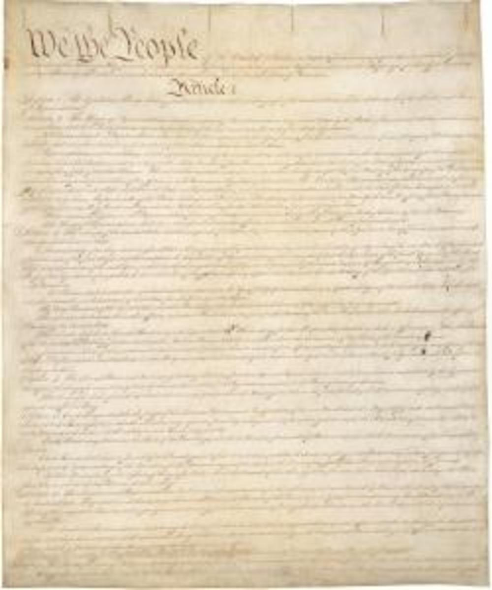 First page of U.S. Constitution. (Credit: Public Domain)