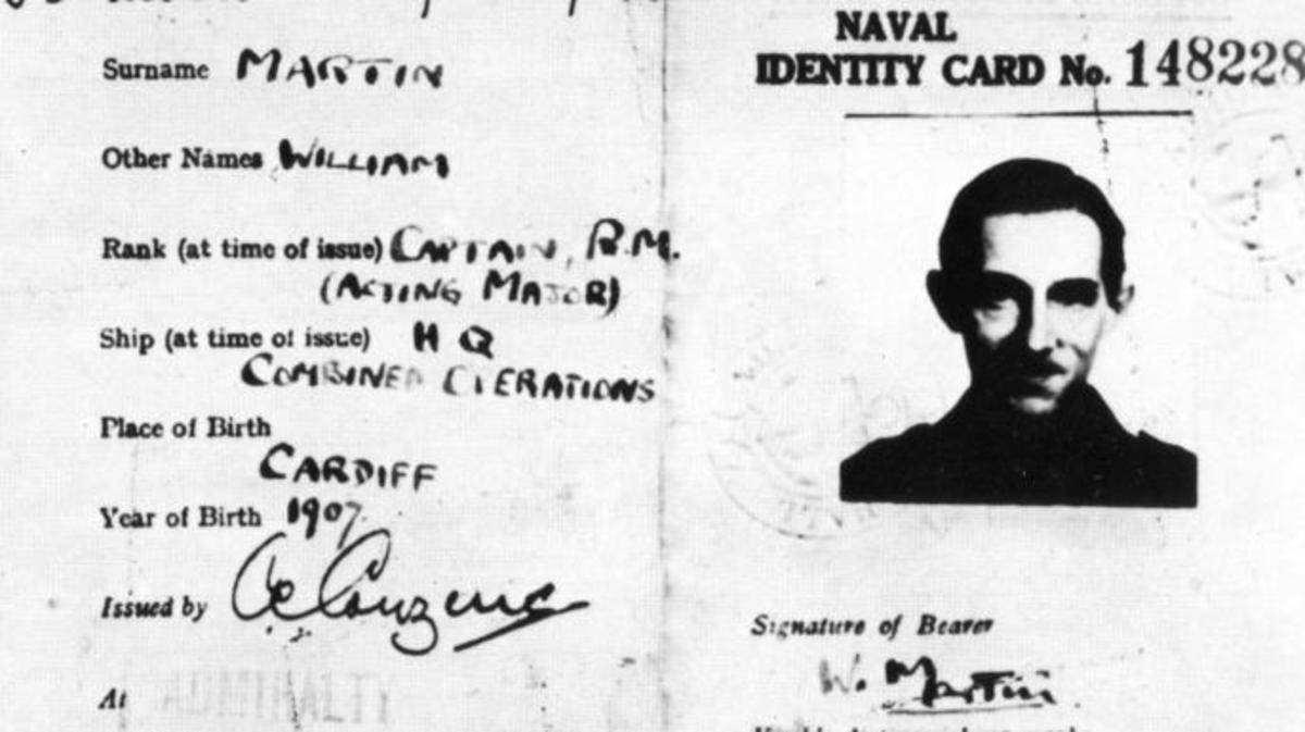 "Phony ID card for ""William Martin"" (Credit: Getty Images)"