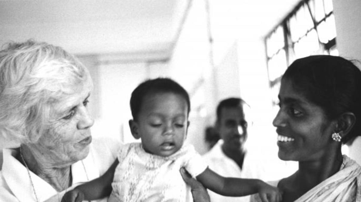 Lillian Carter in India, 1968.