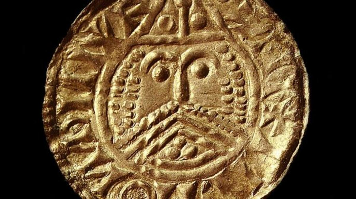 Viking coin minted in Ireland, 11th century. Found in the collection of British Museum. (Credit: Fine Art Images/Heritage Images/Getty Images)