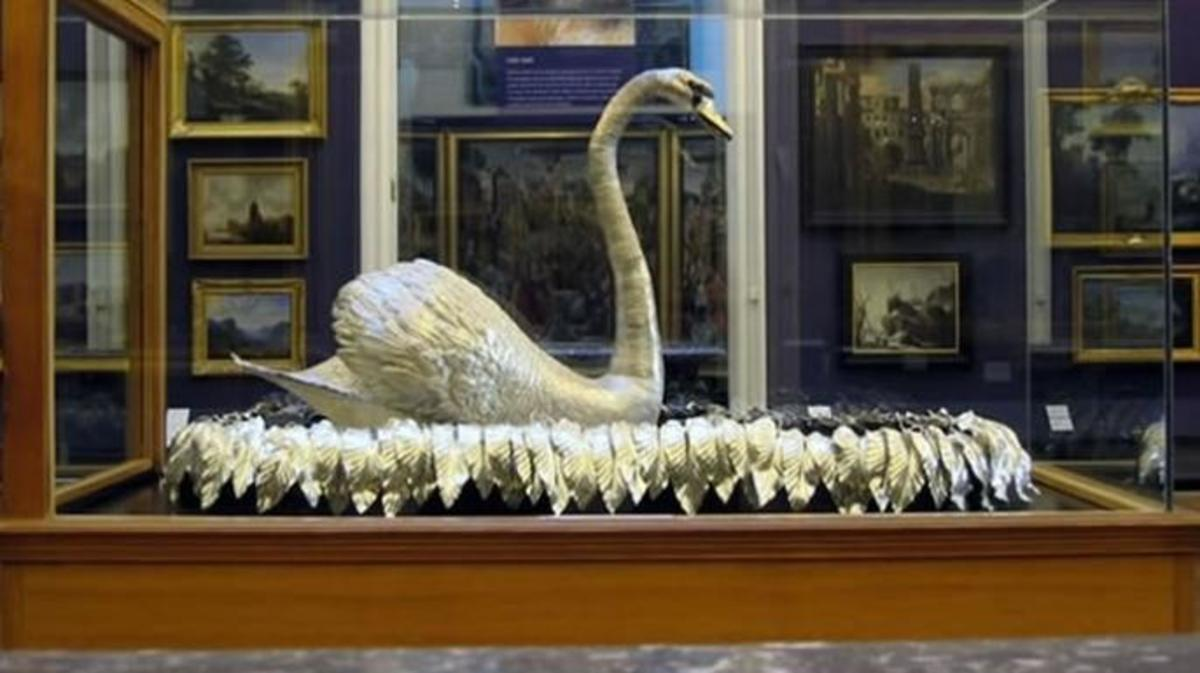 Silver Swan on display at England's Bowes Museum.