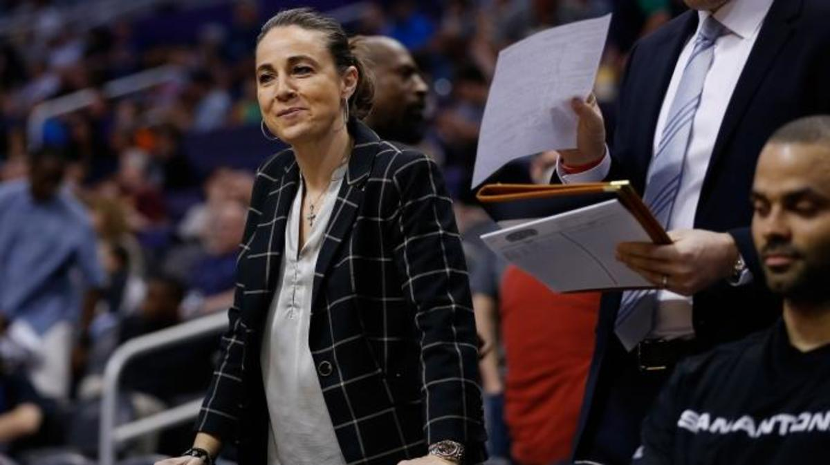 Assistant coach Becky Hammon of the San Antonio Spurs.  (Credit: Christian Petersen/Getty Images)