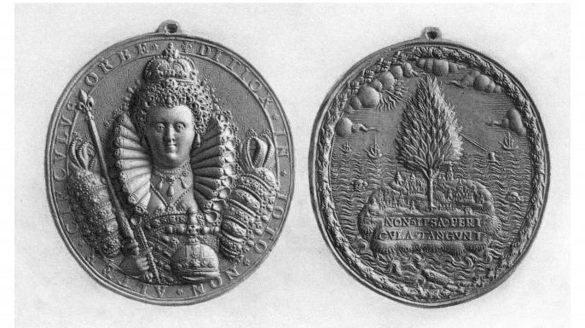 Queen Elizabeth I medal, 16th century. (Credit: The Print Collector/Getty Images)