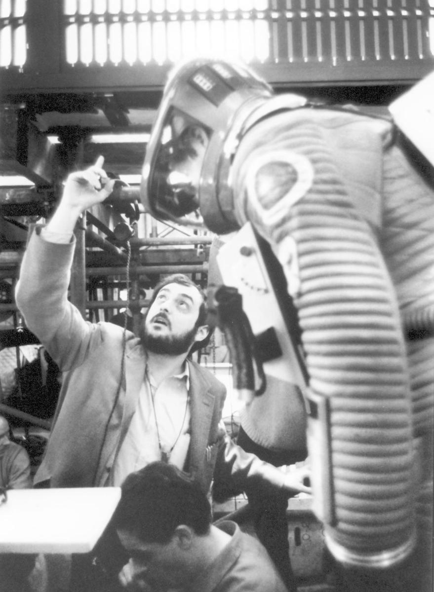 A behind-the-scenes shot of Stanley Kubrick on set. (Credit: Mary Evans/MGM/Ronald Grant/Everett)