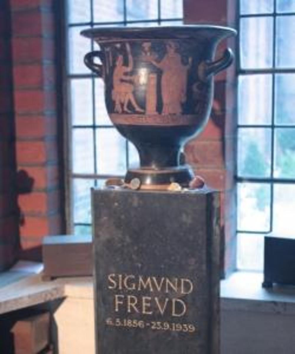 Freud's ashes on display at Golders Green Crematorium, London