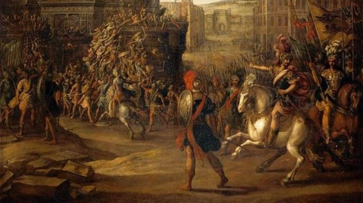 Battle Scene with a Roman Army Besieging a Large City. (Credit: Public Domain)