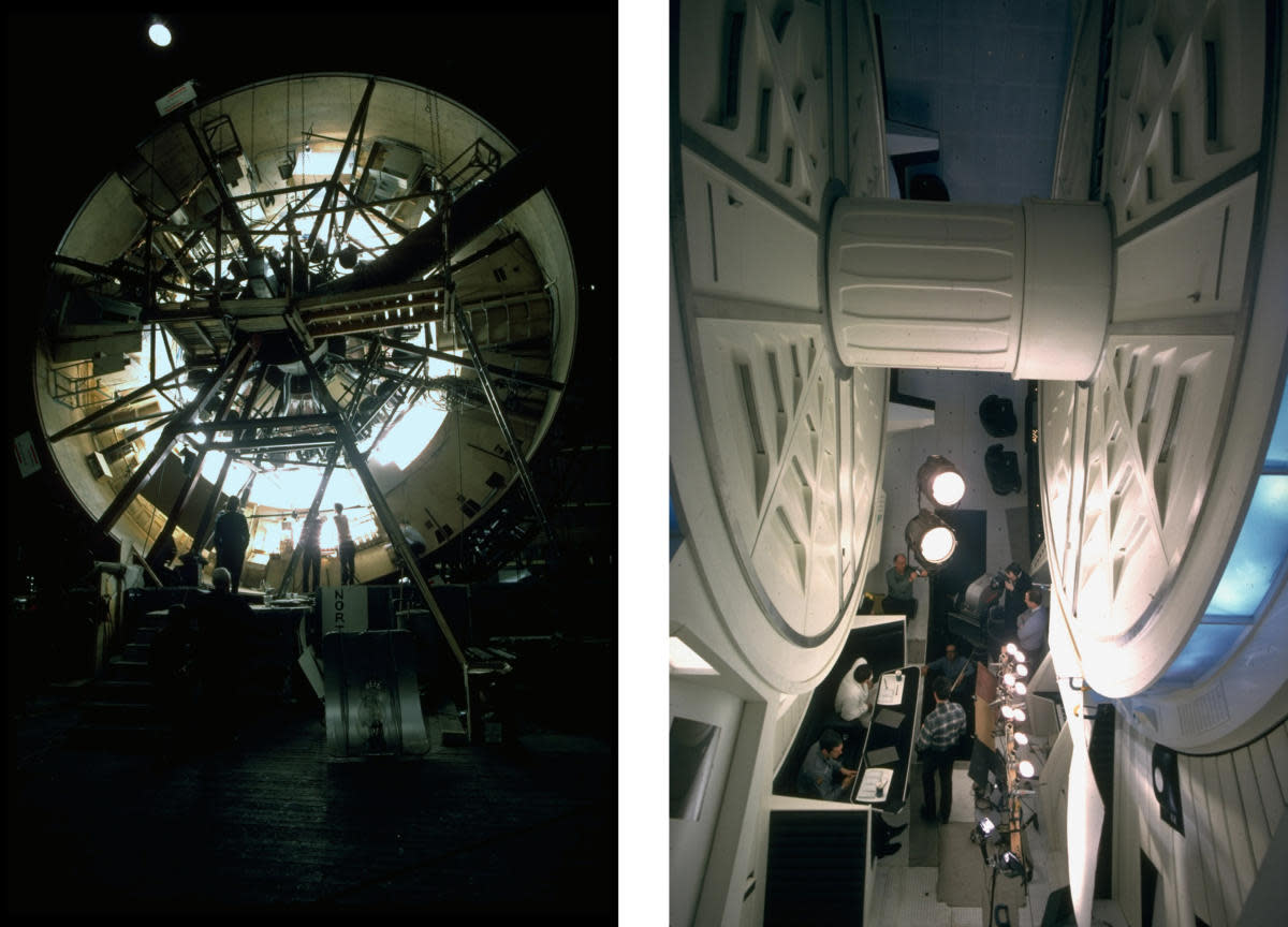 Behind-the-scenes shot of the centrifuge set. (Credit: Dmitri Kessel/The LIFE Picture Collection/Getty Images)