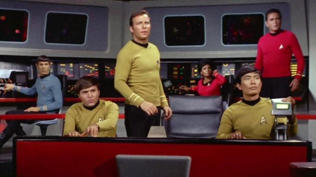 "The cast of ""Star Trek"" during season 3."
