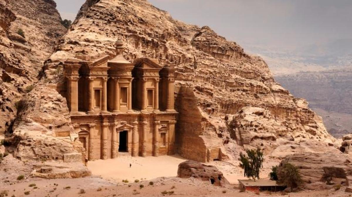 A classic view of El Deir, The Monastery in Petra. (Credit: Nick Brundle Photography/Getty Images)