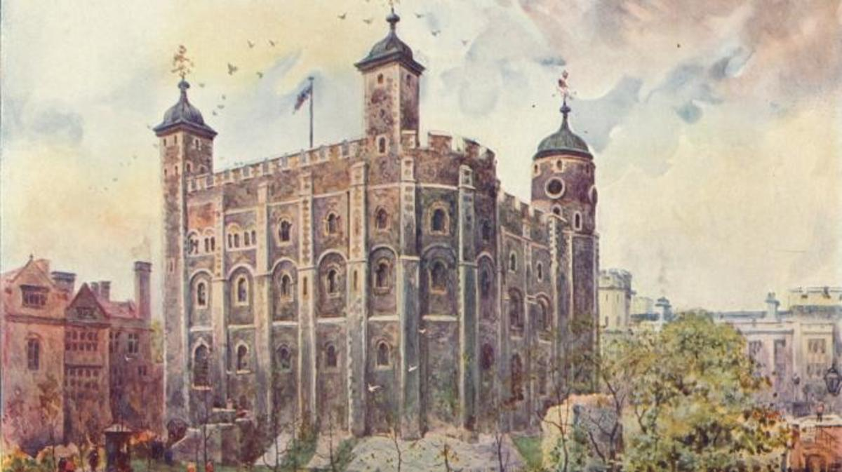 The Tower of London's White Tower, which was first constructed by William the Conqueror. (