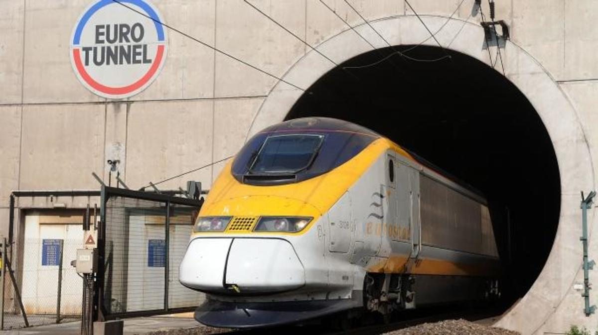 A Eurostar train enters the Eurotunnel near Calais, France. (Credit: Antoine Antoniol/Bloomberg/Getty Images)