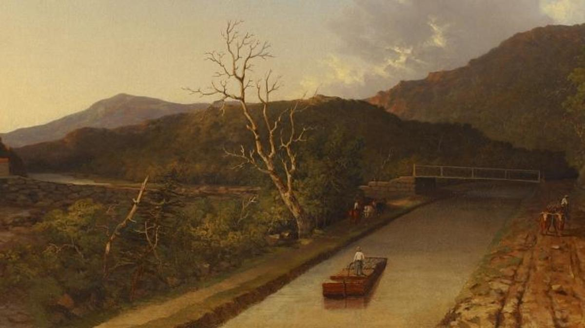 1847 painting of the Erie Canal. (Credit: The New York Historical Society/Getty Images)