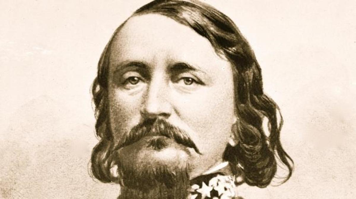 George Pickett—leader of American forces during the Pig War. (Credit: Getty Images)