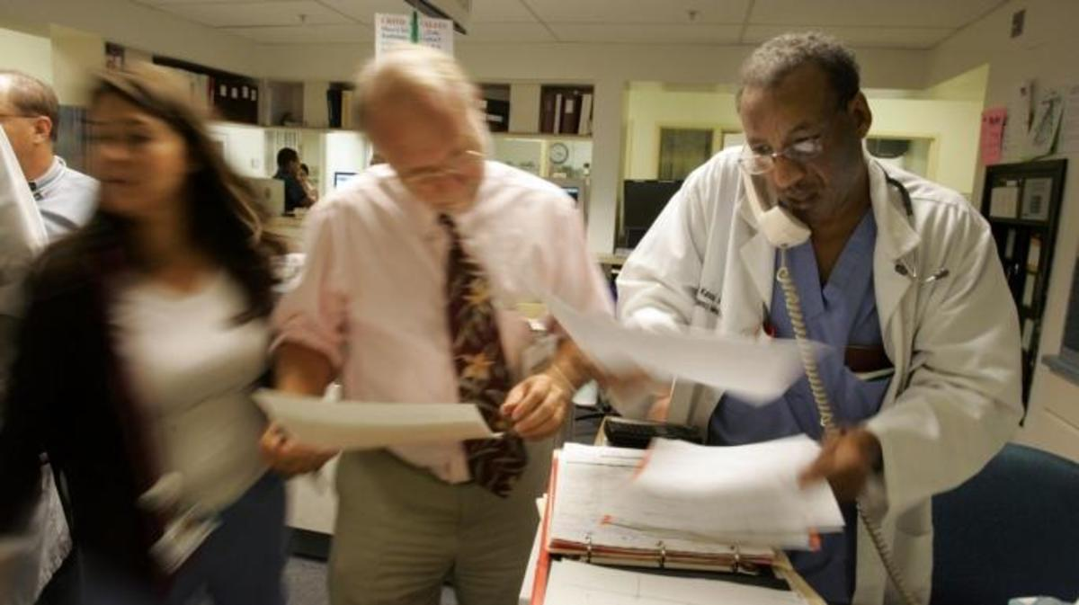 The Busy Emergency Room At Downey Regional Medical Center In California 2006