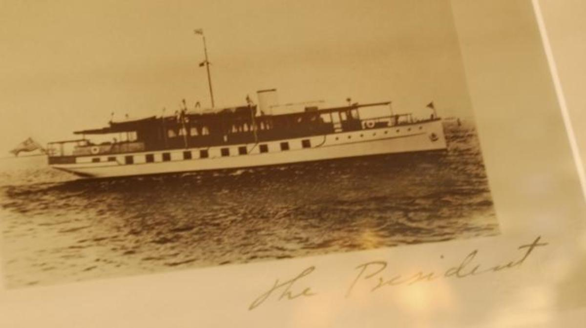 Photo of the U.S.S. Sequoia, Presidential Yacht, from 1932.  (Credit: Tom Williams/Roll Call/Getty Images)