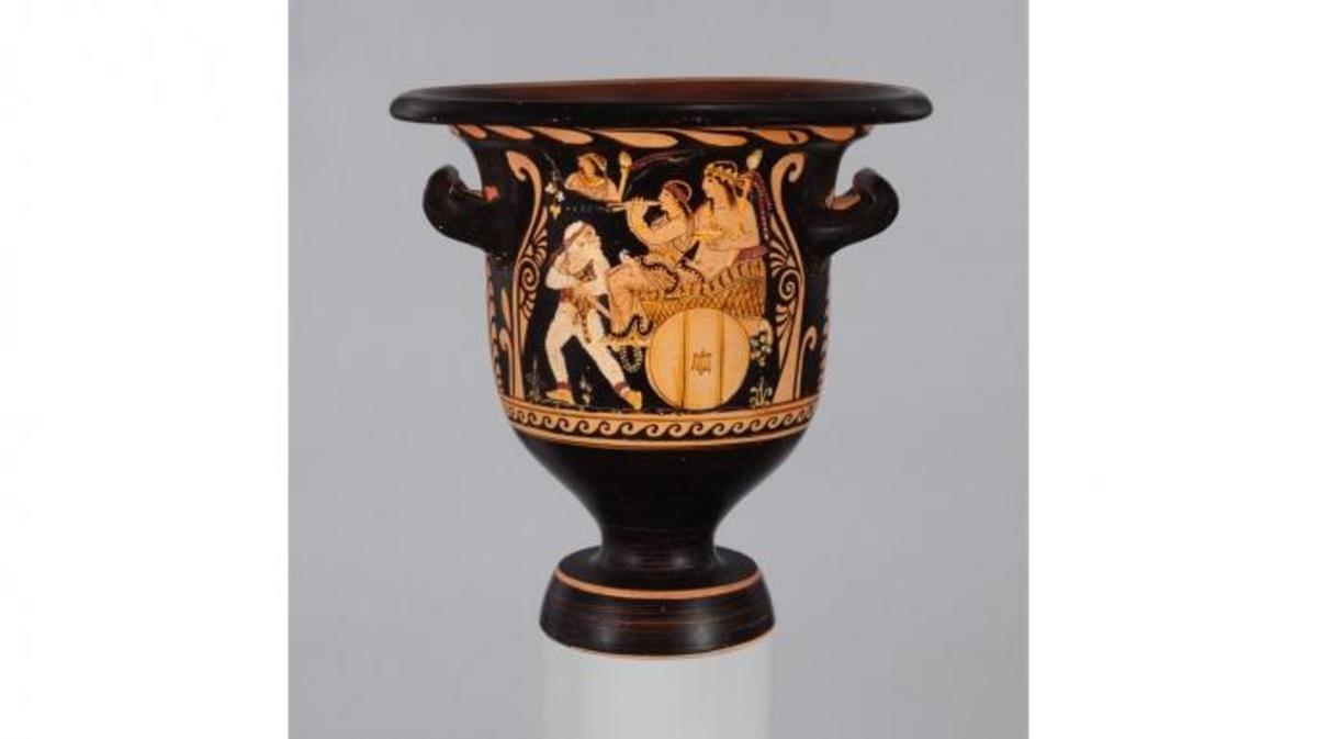 The ancient krater seized from the Metropolitan Museum of Art by the district attorney's office in Manhattan. (Credit: The Metropolitan Museum of Art)