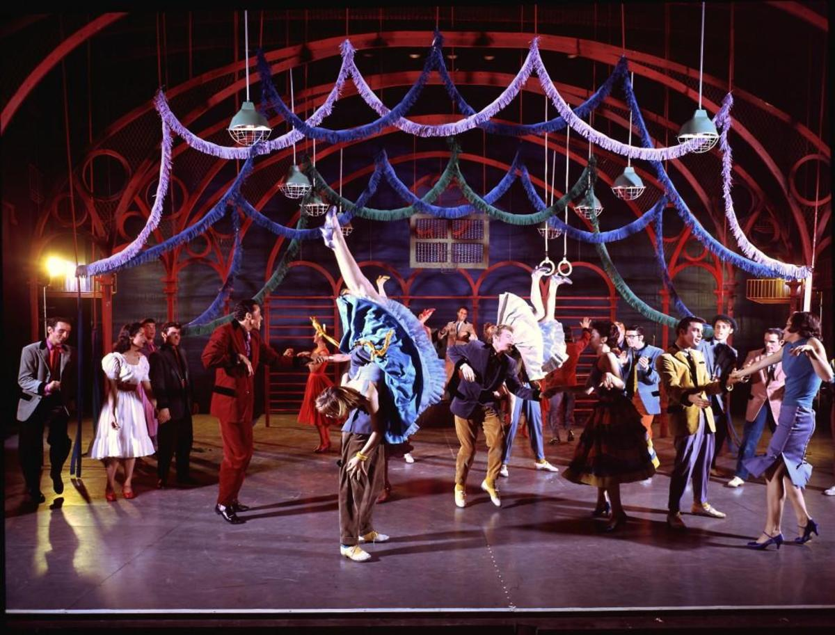 Dance scene from the Broadway musical 'West Side Story,' 1957. (Credit: Hank Walker/The LIFE Picture Collection/Getty Images)