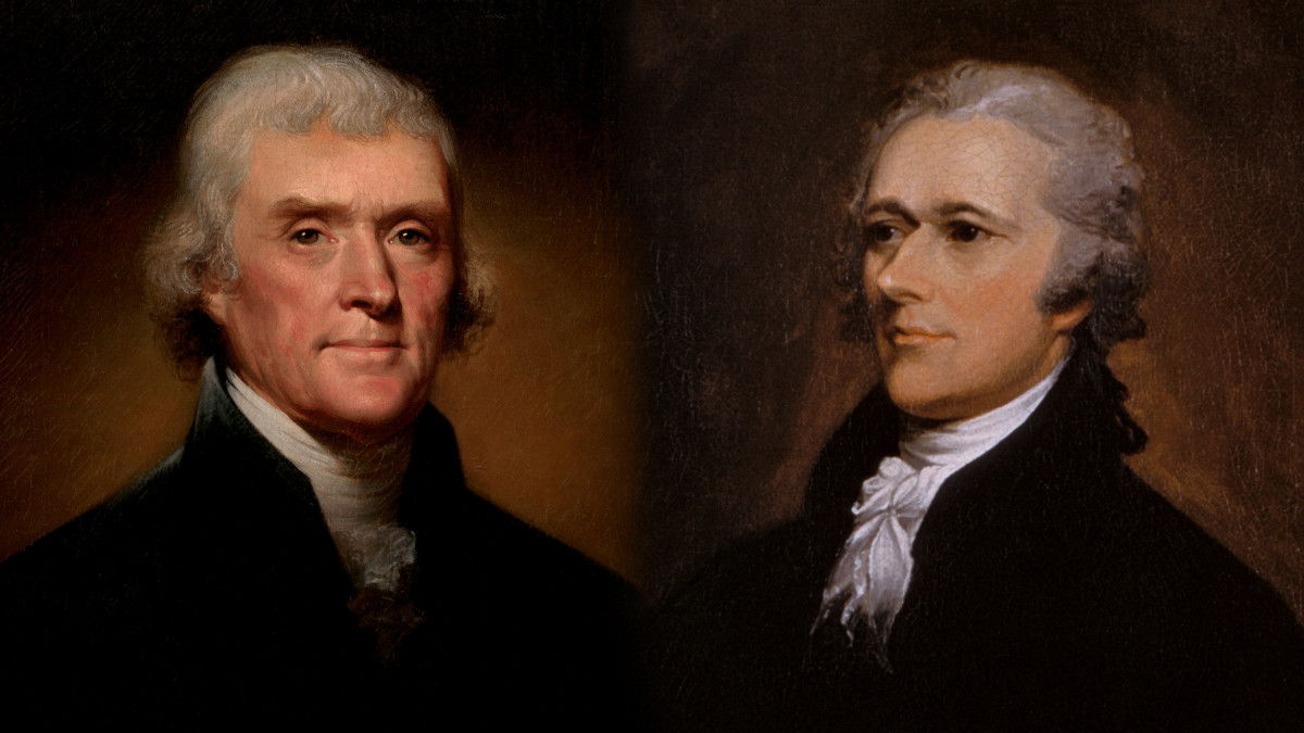 Image result for images of thomas jefferson and alexander hamilton