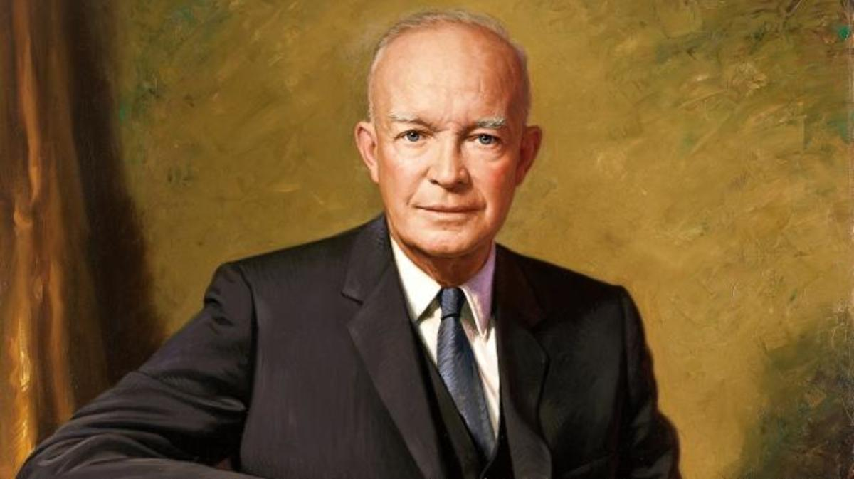 Eisenhower's official presidential portrait.