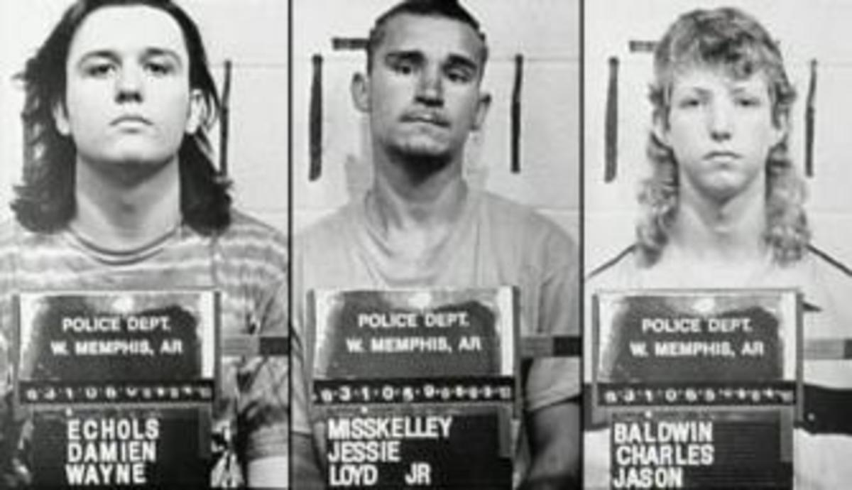"Mugs of the ""West Memphis Three."" (Credit: West Memphis Police Department)"