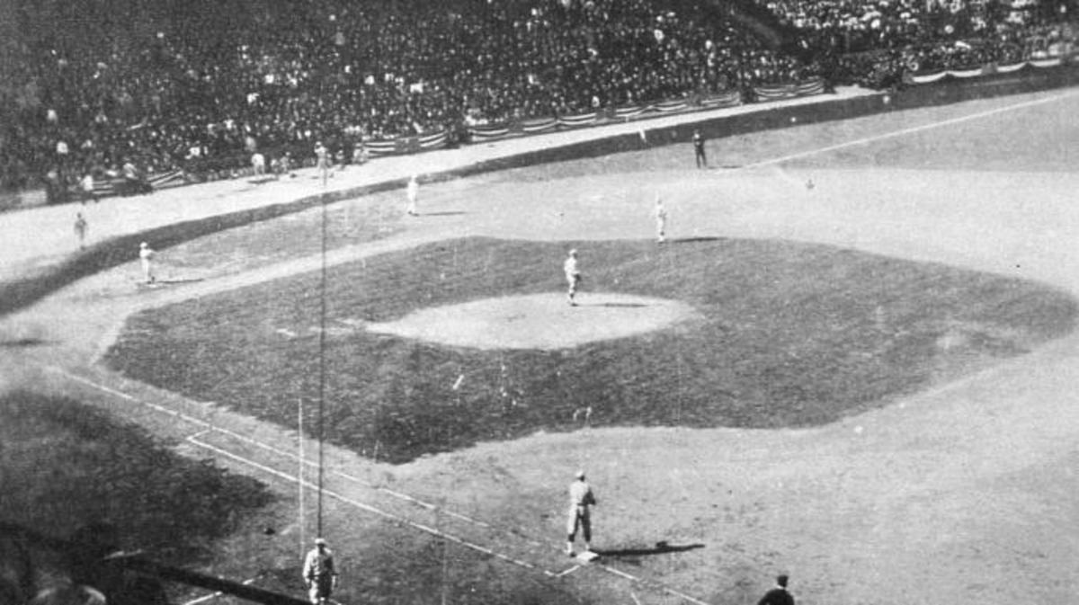 Boston Red Sox and Chicago Cubs during the 1918 World Series at Comiskey Park Chicago, Illinois. (Credot: Mark Rucker/Transcendental Graphics, Getty Images)