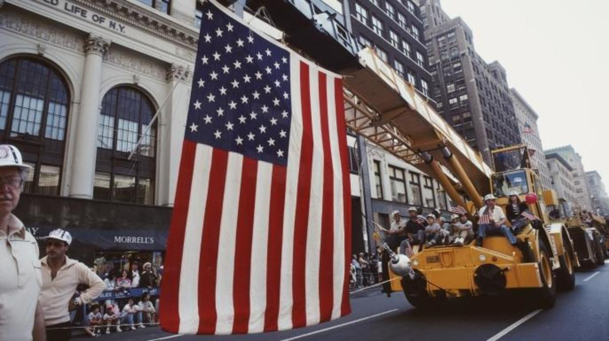 Labor Day parade in New York City, 1982. (Credit: Barbara Alper/Getty Images)