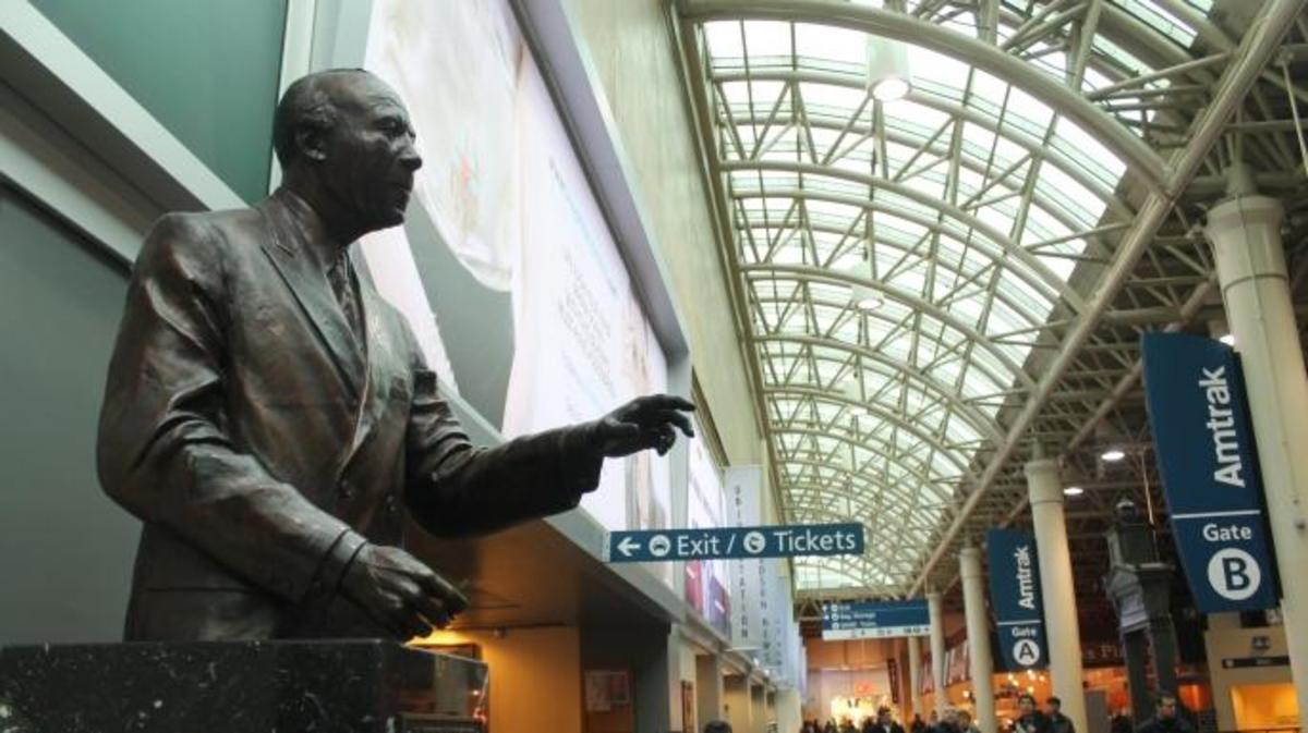 A. Philip Randolph statue at Union Station, Washington D.C. (Credit: Connie via Flickr Creative Commons/CC BY-SA 2.0)