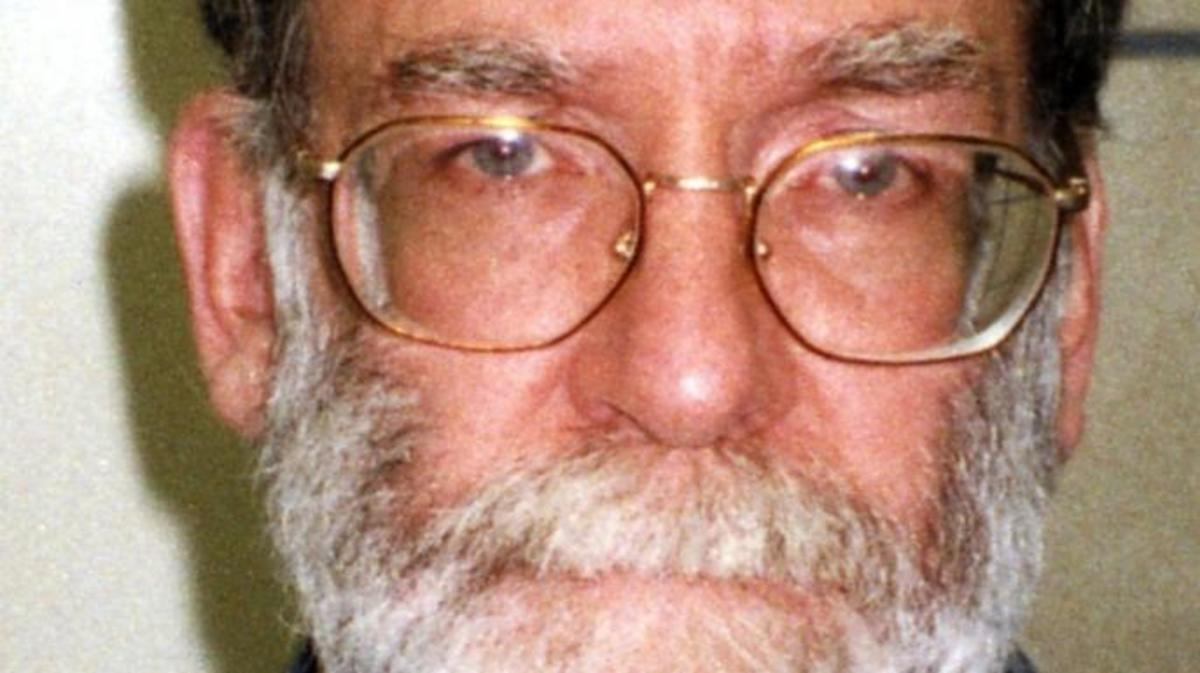 "Dr. Harold Shipman, nicknamed ""Dr. Death"" after his horrific killing spree came to light, was sentenced to life in prison after killing over 200 patients. (Credit: Greater Manchester Police via Getty Images)"