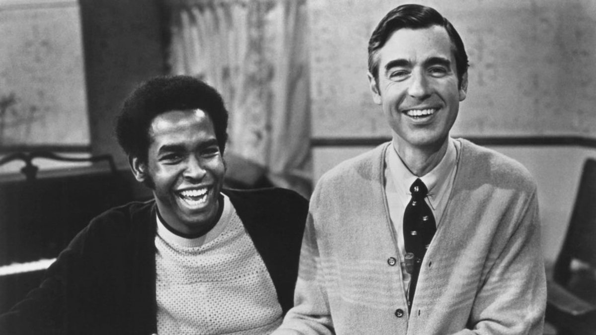 Francois Clemons with Fred Rogers