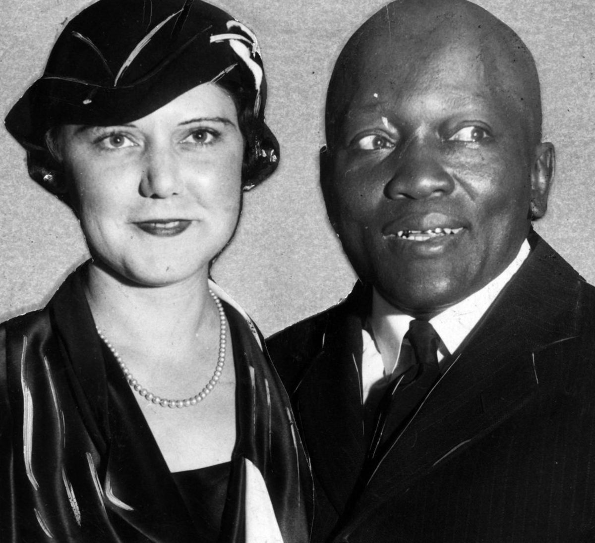 Jack Johnson with his second wife Lucille Cameron, 1920. (Credit: Afro American Newspapers/Gado/Getty Images)