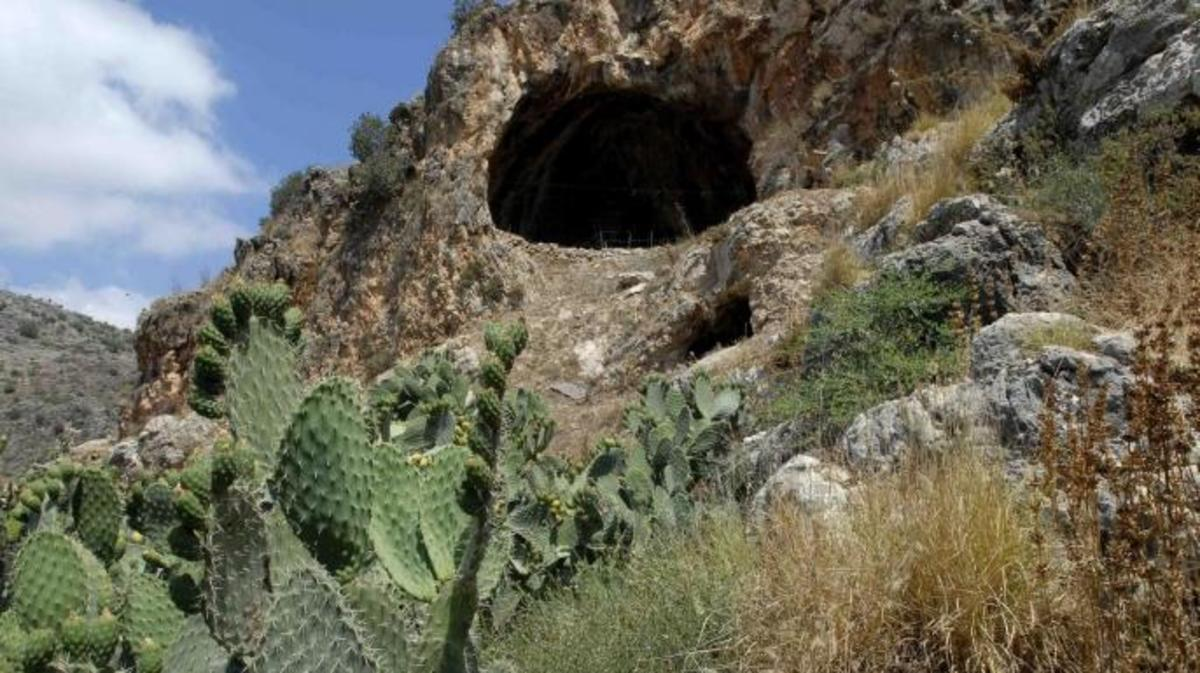 The entrance to the Hilazon cave site. (Credit: Naftali Hilger)