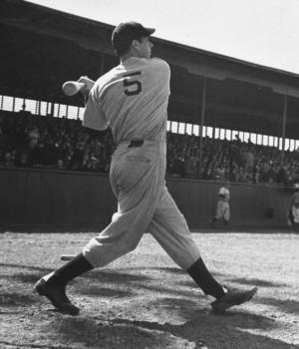 Yankee's Joe DiMaggio at bat. (Credit: Carl Mydans/The LIFE Picture Collection/Getty Images)