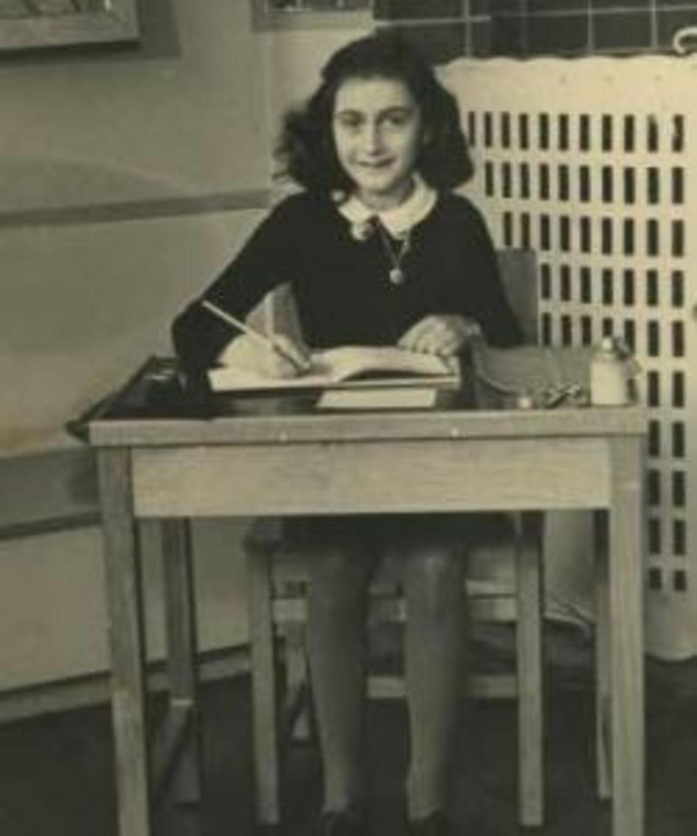 Anne Frank at school.