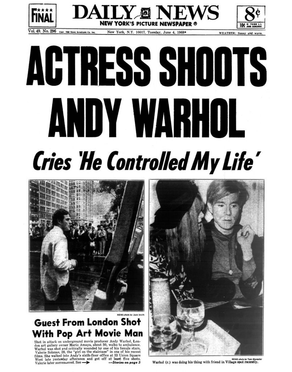 Andy Warhol Shot- Daily News