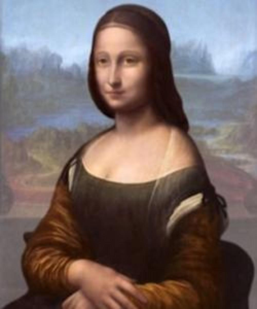 "Pascal Cotte digital reproduction of the painting he believes is beneath the ""Mona Lisa."" (Credit:  Brinkworth Films)"