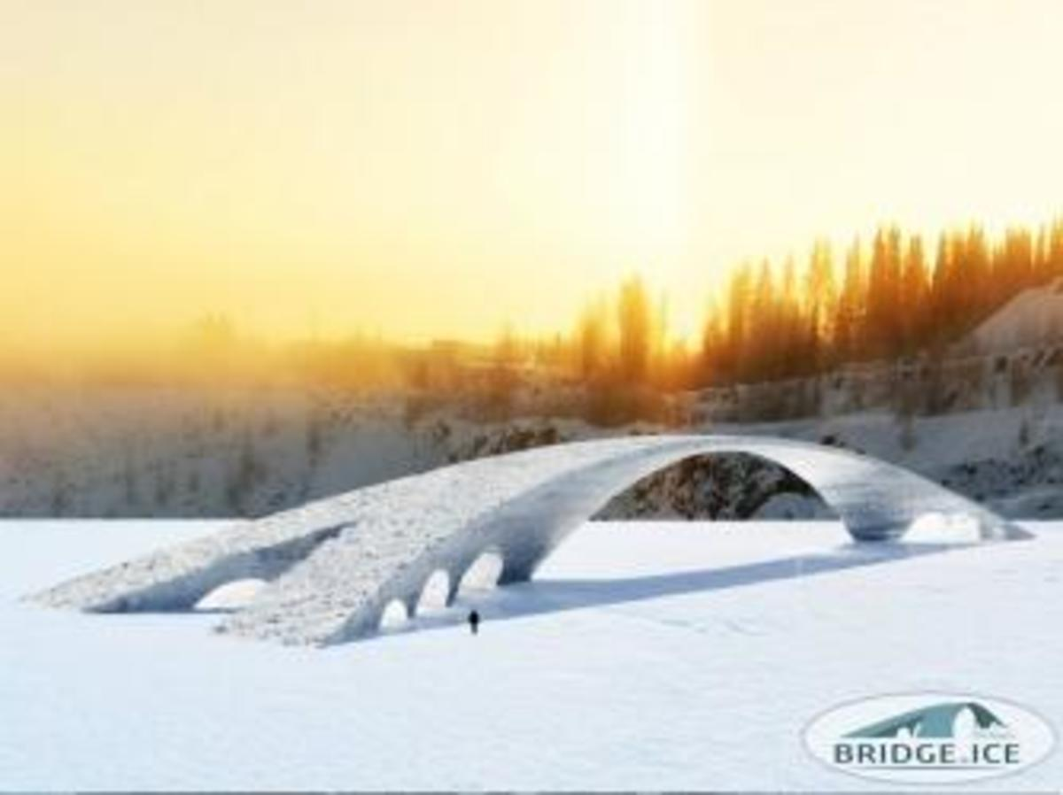 3D Sketch of the Bridge in Ice. (Credit: Bridge in Ice/http://www.facebook.com/bridgeinice)