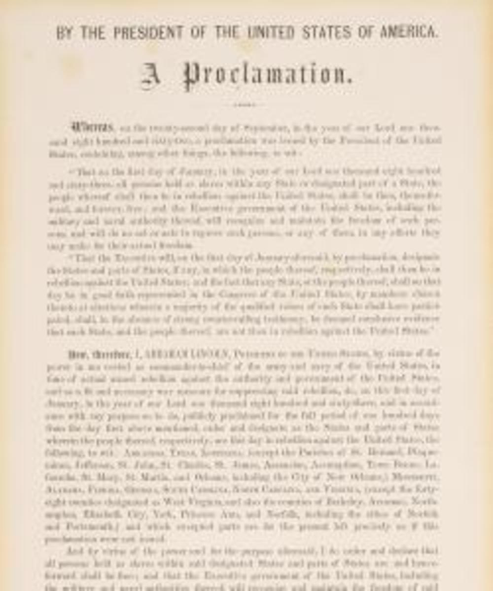 Emancipation Proclamation. (Credit: Sotheby's)